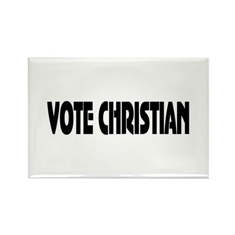 Vote Christian Rectangle Magnet (100 pack)