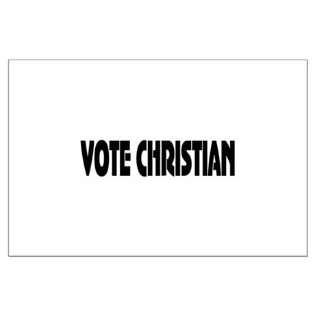 Vote Christian Large Poster