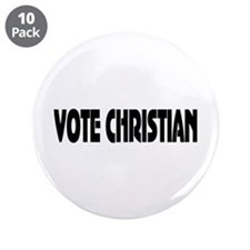 "Vote Christian 3.5"" Button (10 pack)"