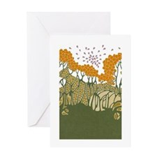 Arts and Crafts Trees Greeting Card