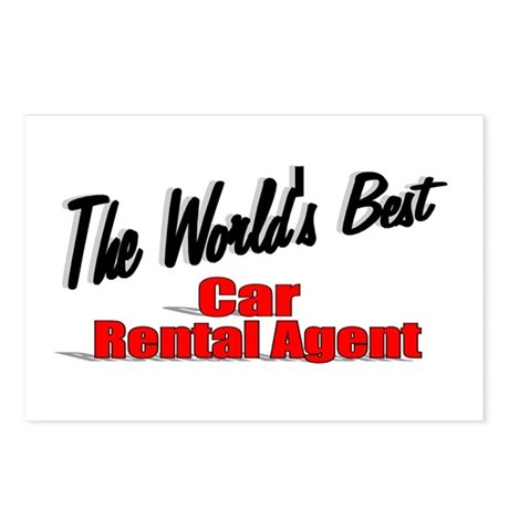 &quot;The World's Best Car Rental Agent&quot; Postcards (Pac