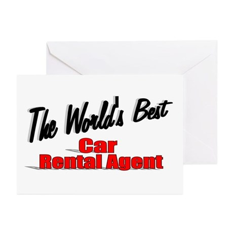 &quot;The World's Best Car Rental Agent&quot; Greeting Cards