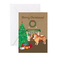 Chow Chow Merry Christmas Greeting Cards (Pk of 20