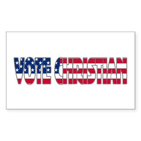 Vote Christian Rectangle Sticker