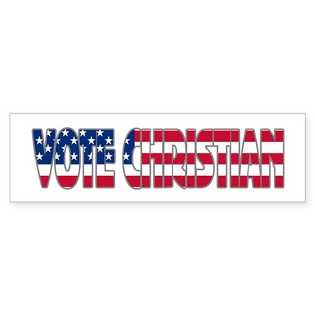 Vote Christian Bumper Sticker
