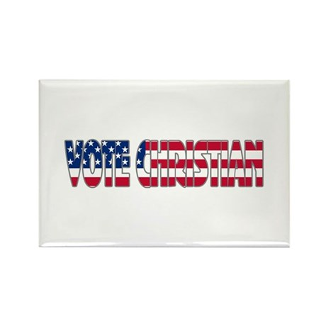Vote Christian Rectangle Magnet (10 pack)