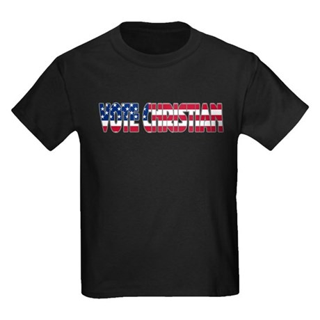 Vote Christian Kids Dark T-Shirt