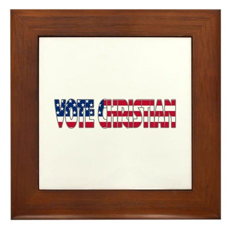Vote Christian Framed Tile