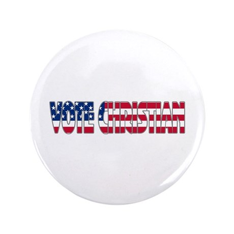 "Vote Christian 3.5"" Button (100 pack)"