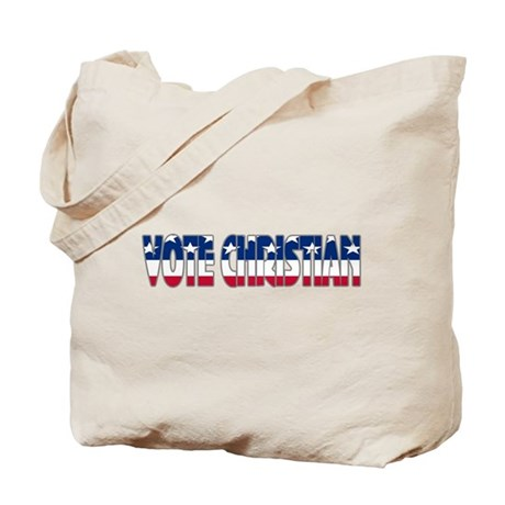 Vote Christian Tote Bag