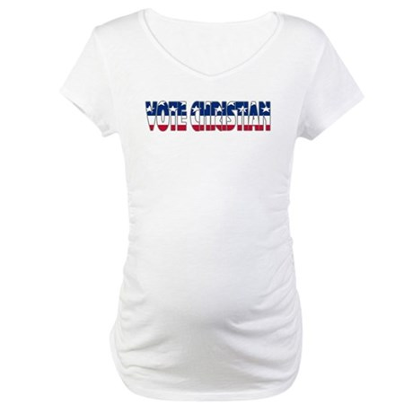 Vote Christian Maternity T-Shirt