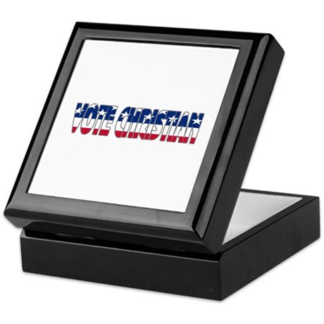 Vote Christian Keepsake Box