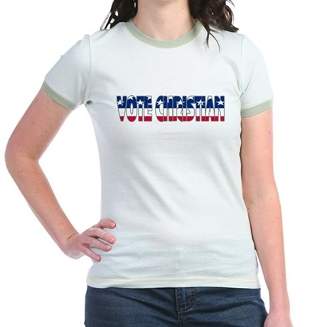 Vote Christian Jr. Ringer T-Shirt