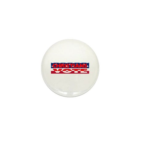 Christians Vote Mini Button