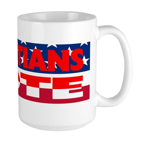 Christians Vote Large Mug