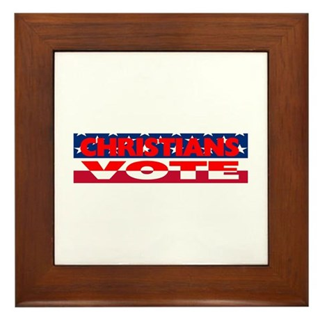 Christians Vote Framed Tile