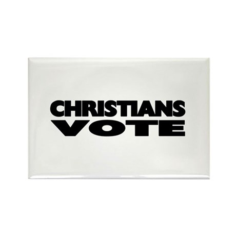 Christians Vote Rectangle Magnet (100 pack)