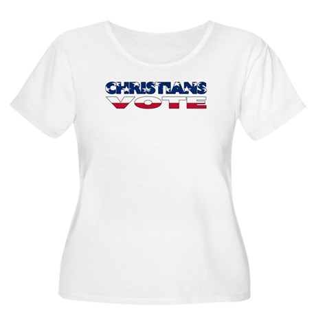 Christians Vote Women's Plus Size Scoop Neck T-Shi