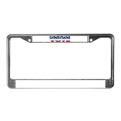 Christians Vote License Plate Frame
