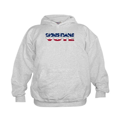 Christians Vote Kids Hoodie