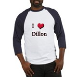 I Love (Heart) Dillon Baseball Jersey