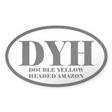 DYH Abbreviated Yellow Headed Amazon Oval Decal