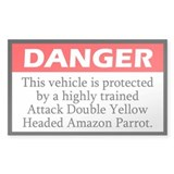 Danger Attack Double Yellow Headed Amazon Decal