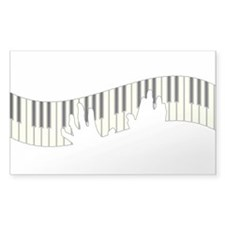 PIANO KEYS Rectangle Decal