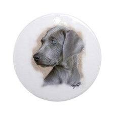 Puppy Blue Eyes Keepsake (Round)