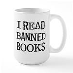I Read Books Large Mug