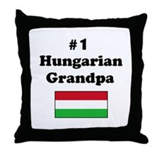 #1 Hungarian Grandpa Throw Pillow