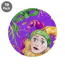 "Mardi-gras3.5"" Button (10 pack)"