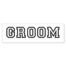 Groom Bumper Bumper Sticker