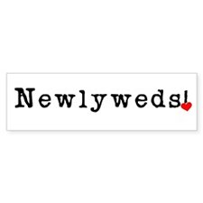 Black Text Newlyweds Bumper Bumper Sticker