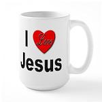 I Love Jesus Large Mug