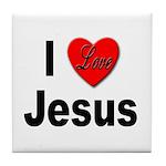 I Love Jesus Tile Coaster