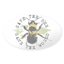 Save The Bee... Oval Decal