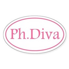 Ph.D Oval Bumper Stickers