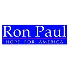 Ron Paul - Hope For America Bumper Bumper Sticker