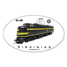 Virginian EL-2B Electric Locomotive Oval Decal