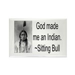 God made me an Indian Rectangle Magnet (100 pack)
