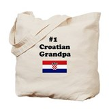 #1 Croatian Grandpa Tote Bag