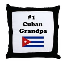 #1 Cuban Grandpa Throw Pillow