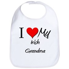I Heart My Irish Grandma Bib