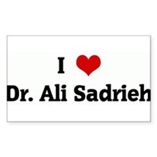 I Love Dr. Ali Sadrieh Rectangle Decal