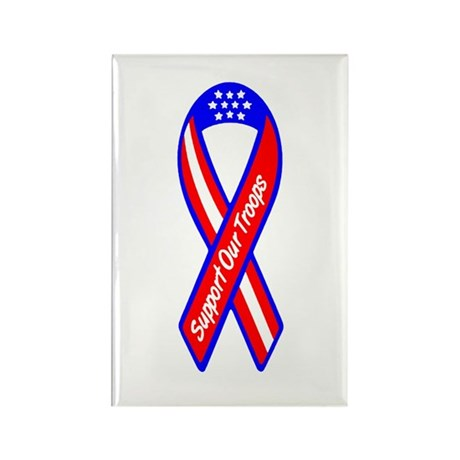 Support Our Troops Rectangle Magnet (100 pack)