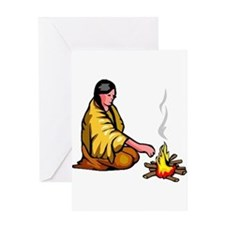 Indian Praying Greeting Card