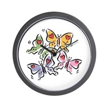 Butterfly Valentine Wall Clock