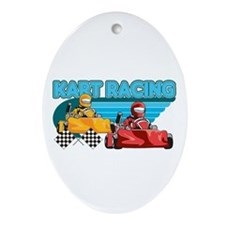 Kart Racing Oval Ornament