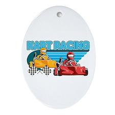 Kart Racing Oval Ornament